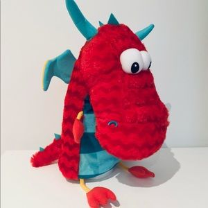 Hallmark Plush Hand Puppet RED DRAGON Toy
